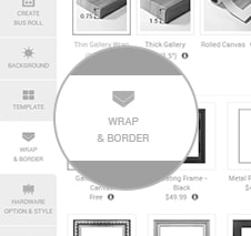 Choose a Wrap or Frame?