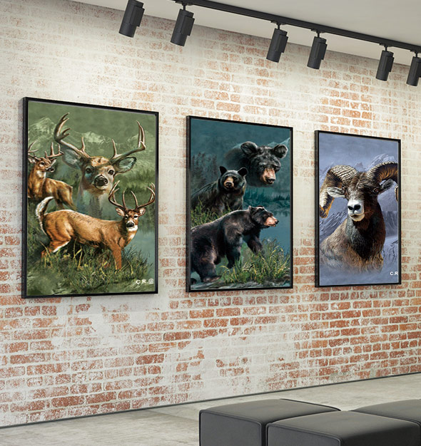 Beautiful 3D Animal Picture Print